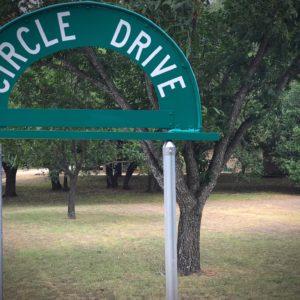 Circle Drive Sign Restoration Complete
