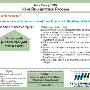 Community Meeting – Home Rehabilitation Grant Program & CDBG